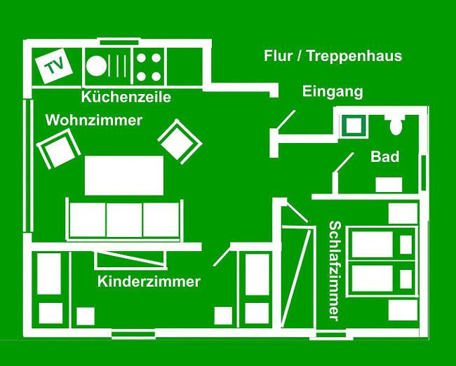 Wohnung 1 - Grundriss 1