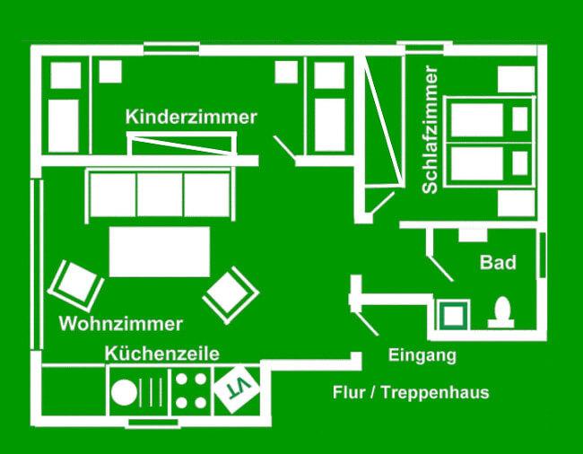 Wohnung 2 - Grundriss 1