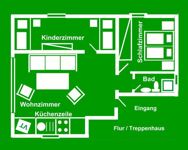 Wohnung 3 - Grundriss 1