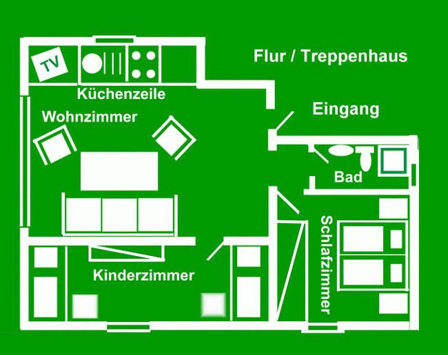 Wohnung 4 - Grundriss 1
