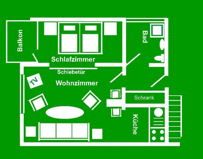Wohnung 5 - Grundriss 1