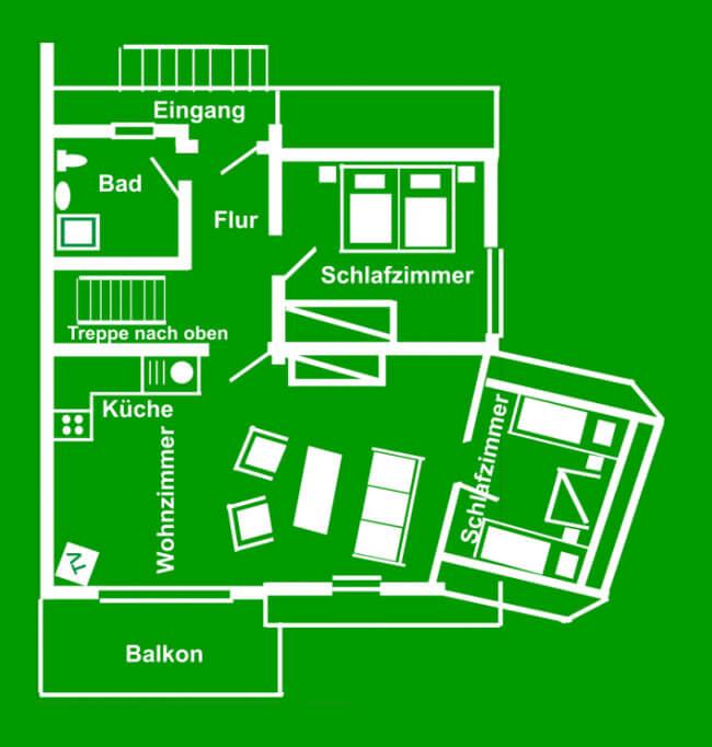 Wohnung 6 - Grundriss Obergeschoss