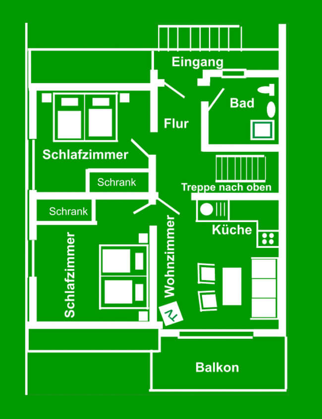 Wohnung 7 - Grundriss Obergeschoss